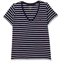Polo Ralph Lauren Top For WOMEN M, NVY/WHT