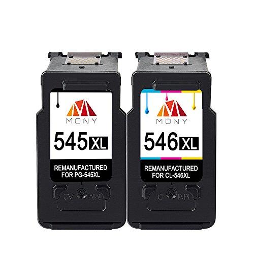 Mony Remanufactured Canon PG-545 CL-546 XL Druckerpatronen (1 Schwarz, 1 Mehrfarbig) für Canon Pixma MX495 IP2850 MG2950 MG2450 MG3051 MG2550 MG2500 MG2555 MG2900 IP2800 MG2555s Drucker