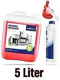 Flüssig-Entkalker für Kaffeevollautomat Kaffeemaschine Kaffeeautomat Wasserkocher - 5 Liter Kanister Kalklöser inklusive Flasche und Ausgießer