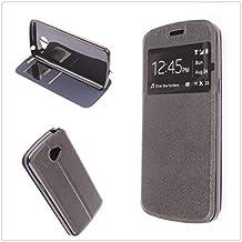 MISEMIYA - Funda para LG K5 (X220) - Funda Protector Cristal Templado, Cover Spo
