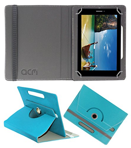Acm Rotating 360° Leather Flip Case For Iball Slide 2g 7236 Tablet Cover Stand Greenish Blue  available at amazon for Rs.149
