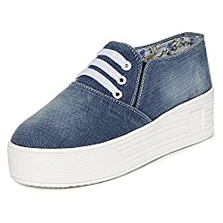 1 WALK MAPPLE COLLECTION ORIGINAL COMFORTABLE STYLISH WOMEN SHOES /SNEAKERS/COLLEGE WEAR/2018 LATEST COLLECTION/PARTY WEAR/CASUAL WEAR/WEEDING WEAR-Light Blue-K214B-41