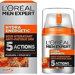 L'Oréal Men Expert Hydra Energetic Soin Hydratant Anti-Fatigue Visage Homme 50 ml