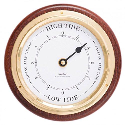 Fischer Tide Uhr mit Single Zifferblatt, Mahagoni farbig, 170x 130mm