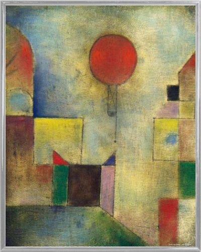 Paul Klee Poster Kunstdruck und Kunststoff-Rahmen - Roter Ballon, 1922 (50 x 40cm) -