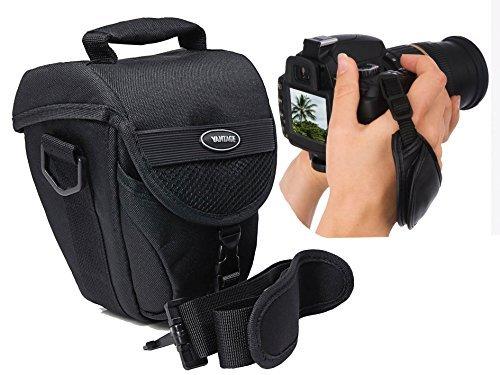 Foto Kamera Tasche COLT VANTAGE Set mit Action-Handgriff Leder für Nikon D5500 D5300 D5200 D5100 D3300 D3200 D3100