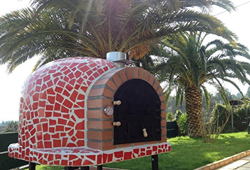 Mediterrani Red Mosaic - Outdoor Wood Fired Pizza Oven - 110cm