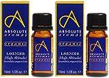 (2 Pack) - Absolute Aromas - Organic HA Lavender Oil   10ml   2 PACK BUNDLE