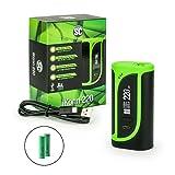 SC / Eleaf iKonn 220 Akkuträger 220 Watt + 2 x 2500 mAh Akku in 6 Farben Box-Mod-Set (schwarz - grün)