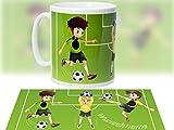 Tasse mit Motiv Fußball - Jungs - Sport / Kunststoff Melamin BPA-frei / optional mit Wunschname / personalisierbar - tolles Geschenk - Geburtstagsgeschenk