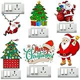 Decor Villa Merry Christmas Switch Board Sticker & Decal (PVC Vinyl, Size- 30 cm X 30 cm)