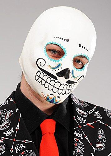 Maske Zucker Kostüm Schädel - Erwachsener Tag der Toten Catrin Zucker Schädel Maske