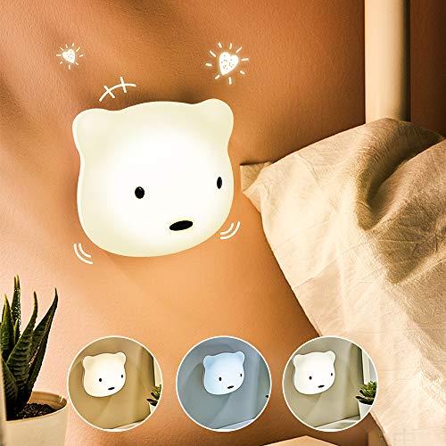 Etmury LED Nachtlicht Kinder, 3M Nachtleuchte Baby Touch Lampe für Schlafzimmer, Nachttischlampen mit Gelbem & Weißem Licht & Touch Schalter, Nachtlampe für das Lesen, Schlafen und Entspannen