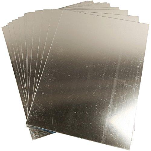 Espejo de plástico, hoja 29,5x21 cm, grosor 1,1 mm, 1hoja