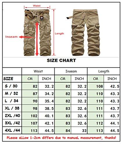 Cargo hose Herren Traveler Trousers Multi Tasche Pants Schwarz Grau