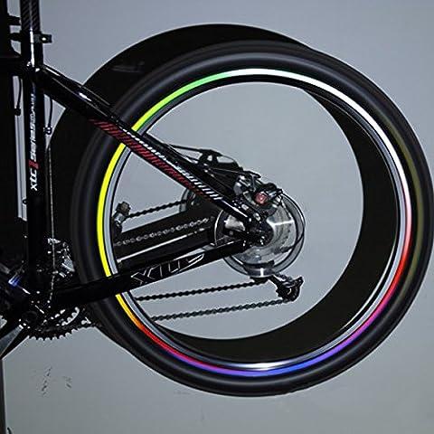 Inovey 10 Jantes De Roue De Bicyclette De Vélo X Autocollants Réfléchissants Lumineux