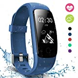 Fitness Tracker, moreFit Slim Touch Activity Tracker Orologio Cardiofrequenzimetro Impermeabile IP67...