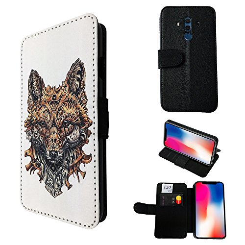 001845 - Cool Fox Mechanical Style Art Sly Animal Design Huawei Mate 10 Pro 6.0