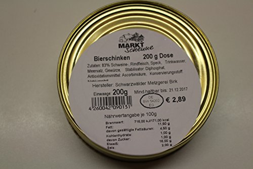 Schwarzwälder Bierschinken 200g Dose