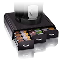 Mind Reader 'Anchor' Triple Drawer single serve coffee pod holder, Black