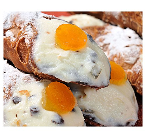 6 Sicilian Cannoli with Pure Sheep's Milk Ricotta - 24h Shipping from Italy