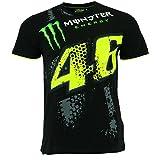 Valentino Rossi VR46 Moto GP Schwarz Monster Energy T-shirt Offiziell 2017