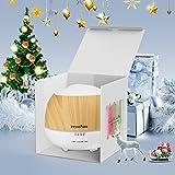 Innoo Tech Aroma Diffuser 500ml Öl Luftbefeuchter Ultraschall Humidifier Holzmaserung LED mit 7 Farben für Babies Kinderzimmer, Auto, Wohnzimmer, Schlafzimmer, Büro, Yoga, Spa, Raum usw - 5