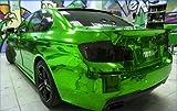 STRETCHABLE Chrom Grün für 3D Verklebung Car Wrapping, Spiegelfolie, Chromfolie Farbmuster 10cm x 10cm