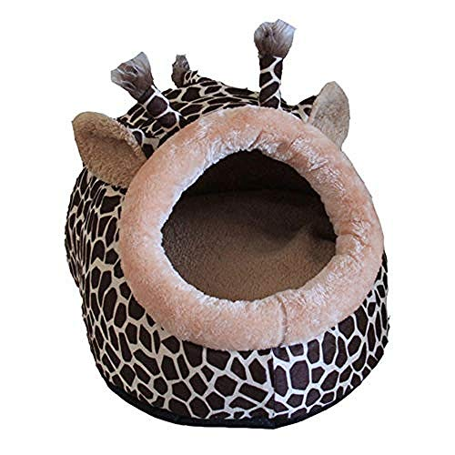 Yhwygg Cama De Perrolavable Jirafa Diseño Leopardo