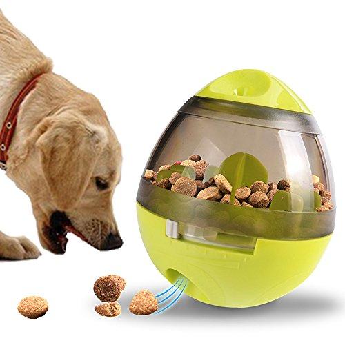 Juguetes interactivos para perros: el mejor juguete dispensador de perros para cachorros y pequeños perros grandes y medianos: llene el juguete masticable con golosinas para detener el aburrimiento: el diseño en forma de bola limpia los dientes