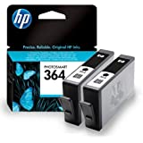 2 Cartouche d'encre pour Imprimante HP Photosmart 5510 - Noir- Avec Puce