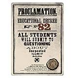 "Stahlschild Harry Potter ""Proclamation Educational Decree No. 82"",A5"
