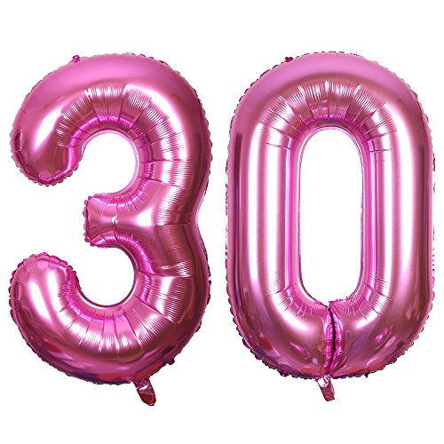 SMARCY Globos Número (30 Rosado)