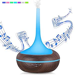 Aroma Diffusor 400ml Holz Luftbefeuchter Bluetooth