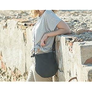 Kleine schwarze Ledertasche, schwarze Ledertasche, Handwerk Tasche, Leder