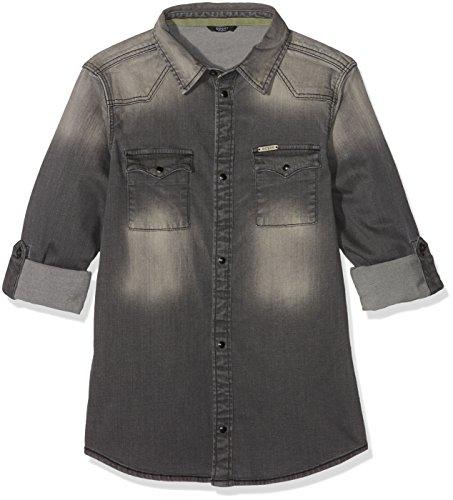 Guess Jungen T-Shirt Ls, Grau (Grey Scarlet Wash), 140cm (Kinder T-shirt Scarlet)