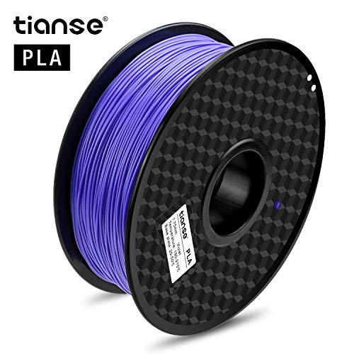 TIANSE Viola filamento PLA per stampanti 3D, 1,75 mm, precisione dimensionale +/- 0,03 mm (2,2 lbs.)