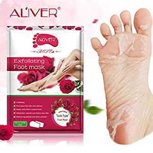 Kingko 1Pair Hot Exfoliating Foot Mask Peel Callus Remover Best Quality Exfoliate Remove Dead Skin Get Silky Soft Baby Foot Easily and Efficiently Feet Care Anti Aging … (A, 1PC)