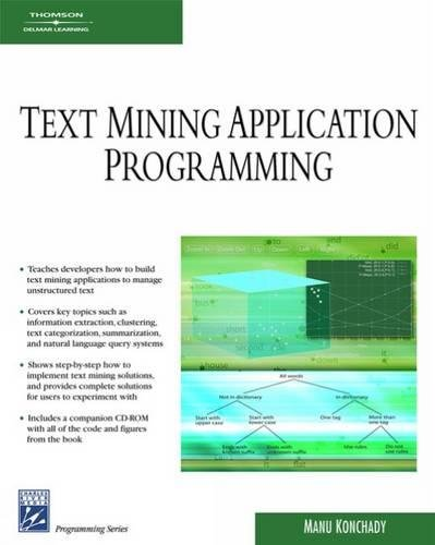 Text Mining Application Programming (Charles River Media Programmin) por Manu Konchady