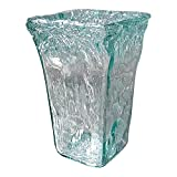 dasmöbelwerk Deko Vase Glasvase Tischvase dickwandiges Glas in Mintgrün Windlicht Teelicht PTMD Home Collection in 2 Größen (klein 22 cm) *662796