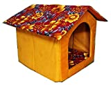 Best Pet Hut - . Designer Printer Velvet Fabric Dog House Foldable Review