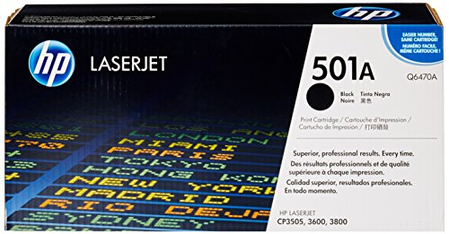HP 501A (Q6470A) Schwarz Original Toner für HP Color Laserjet 3600, CP3505,...