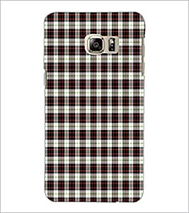 PrintDhaba Check Pattern D-5917 Back Case Cover for SAMSUNG GALAXY NOTE 5 EDGE (Multi-Coloured)