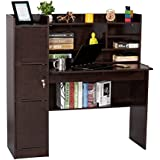 Deckup Versa Office Table and Study Desk (Dark Wenge, Matte Finish)