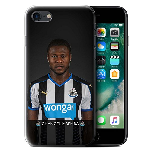 Offiziell Newcastle United FC Hülle / Gel TPU Case für Apple iPhone 7 / Wijnaldum Muster / NUFC Fussballspieler 15/16 Kollektion Mbemba