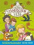 L'école des animaux magiques – Agenda scolaire 2018/2019 – Lappan -Verlag – Margit Auer – Calendrier de poche – 12 cm x 16 cm.
