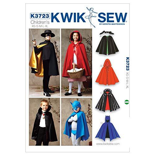 (Kwik Sew Mustern K37234–5/Größe XS klein 6/mittel 7–8/L 10/XL 12–14Cape, weiß, 1Stück)