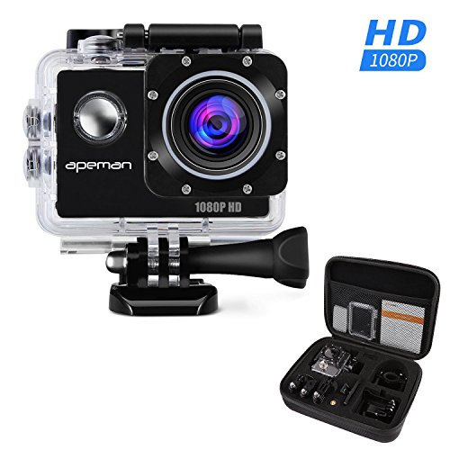 APEMAN-Sports-Action-Camera-12MP-Full-HD-1080p-Action-Cam-Wasserdichte-Action-Kamera-Helmkamera-mit-Transporttasche-und-Zubehr-Kit