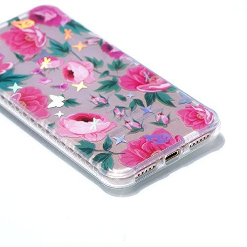 Pour iPhone 8/iPhone 7/iPhone 7G (4,7 zoll) Case Cover, Ecoway TPU Soft Motif de placage en couleur personalized pattern Housse en silicone Housse de protection Housse pour téléphone portable pour iPh datura