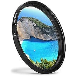 CELLONIC® Filtre UV Compatible avec Nikon AF-P DX Nikkor 70-300 mm 1:4.5-6.3, 55-300mm f/4.5-5.6, AF-S Nikkor 50mm f/1.4, AF-S 50mm 1:1.8G (Ø 58mm) Filtre Protection